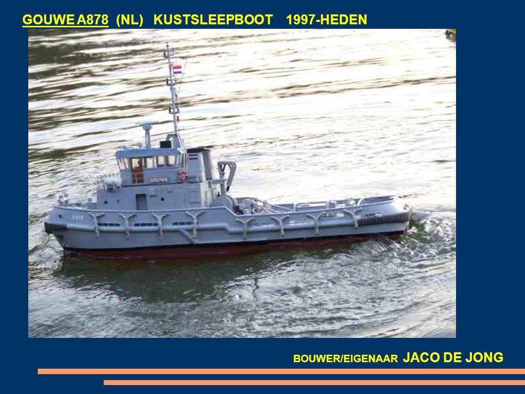 GOUWE A878 (NL) KUSTSLEEPBOOT 1997-HEDEN BOUWER/EIGENAAR JACO DE JONG