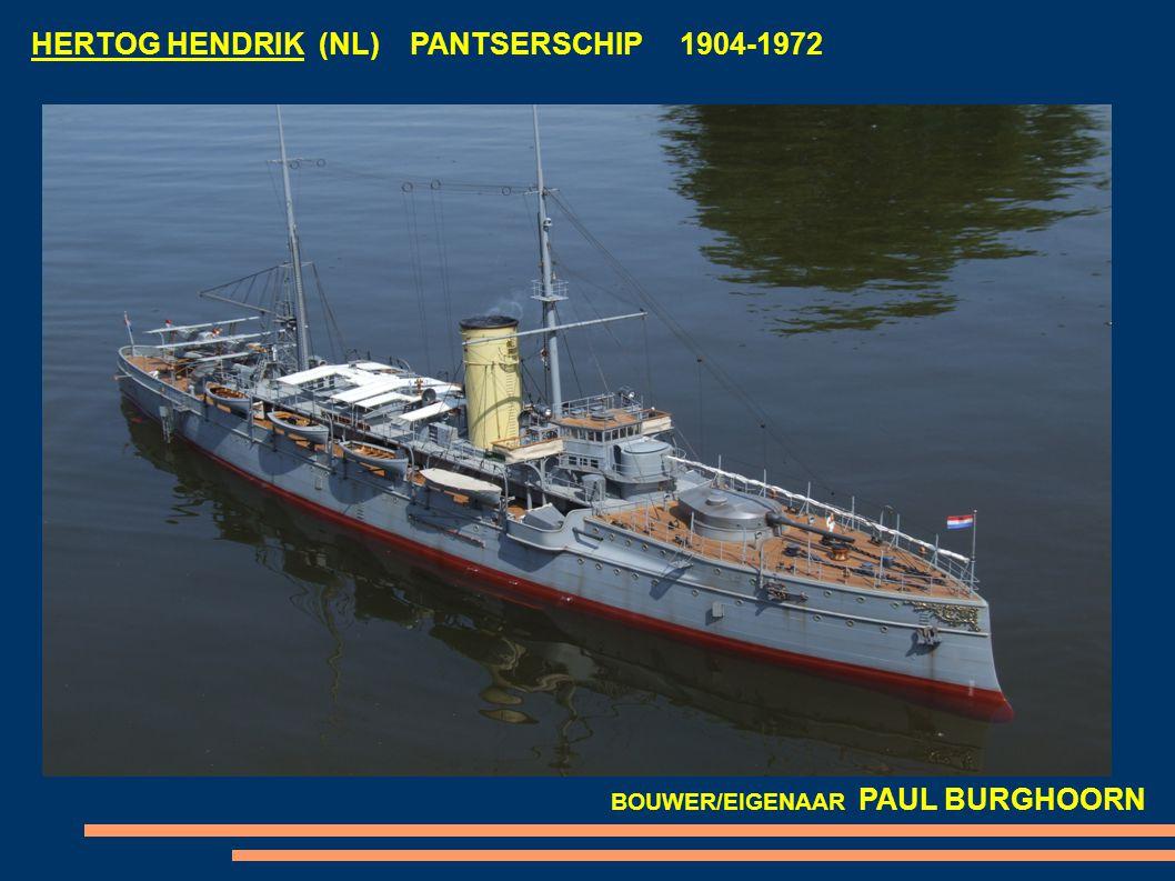 HERTOG HENDRIK (NL) PANTSERSCHIP 1904-1972 BOUWER/EIGENAAR PAUL BURGHOORN