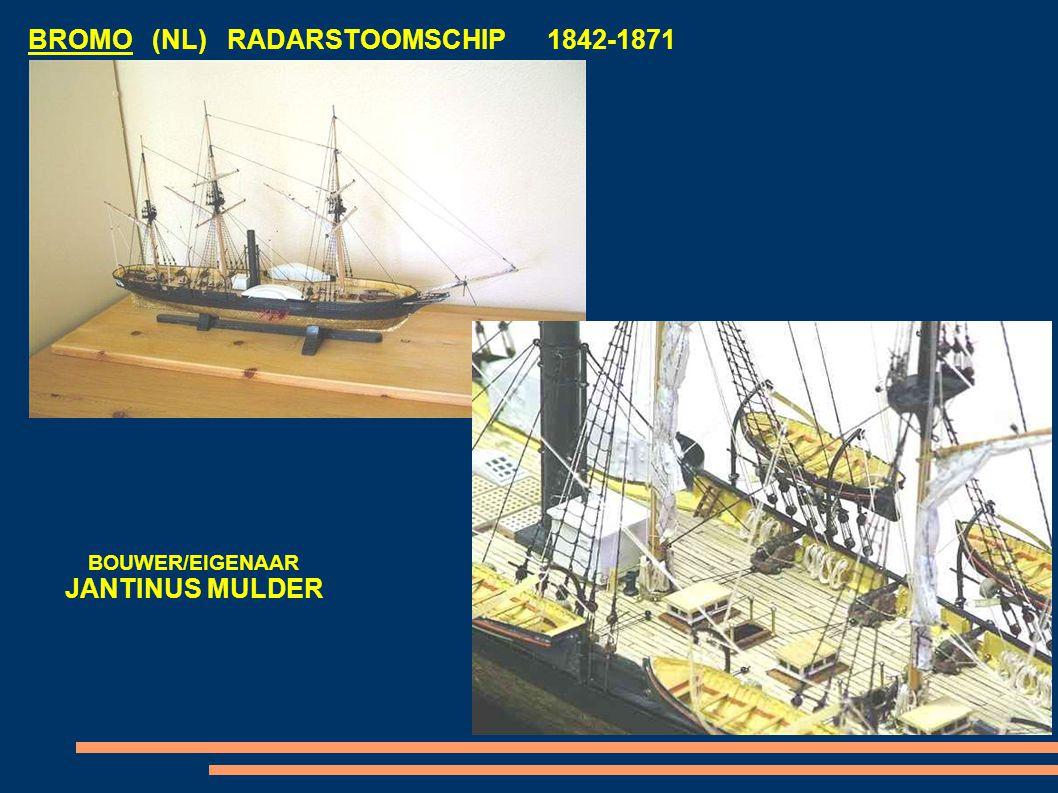BROMO (NL) RADARSTOOMSCHIP 1842-1871 BOUWER/EIGENAAR JANTINUS MULDER