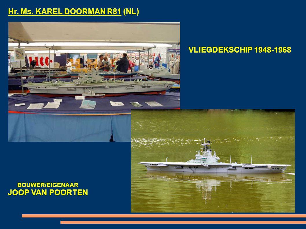 USS ENTERPRISE (USA) VLIEGDEKSCHIP 1961-HEDEN BOUWER/EIGENAAR REIMUND HOCKE
