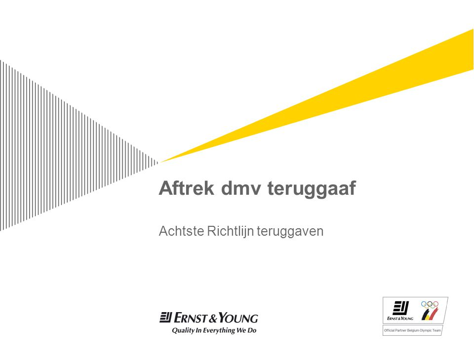 Aftrek dmv teruggaaf Achtste Richtlijn teruggaven