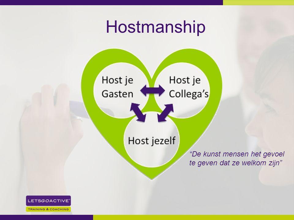 """14 Hostmanship """"De kunst mensen het gevoel te geven dat ze welkom zijn"""""""