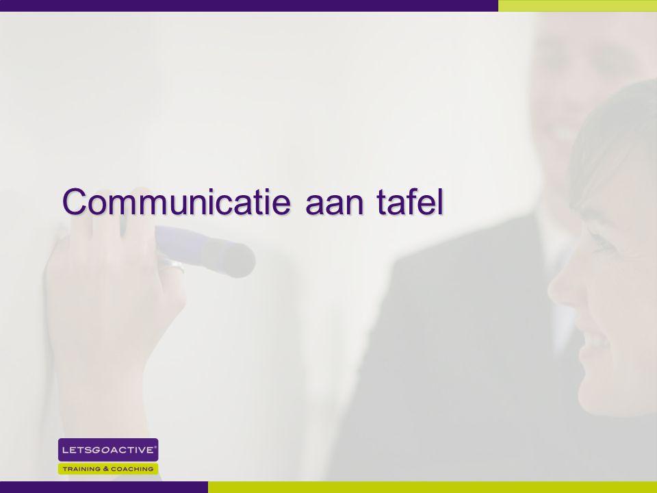 15 Communicatie aan tafel