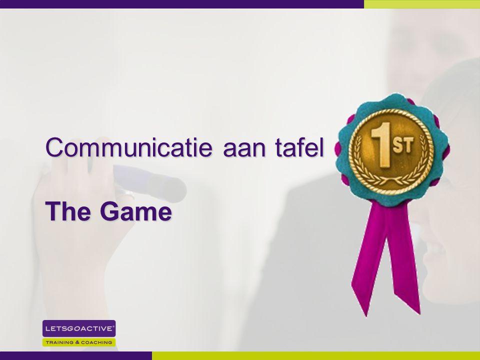 27 Communicatie aan tafel The Game