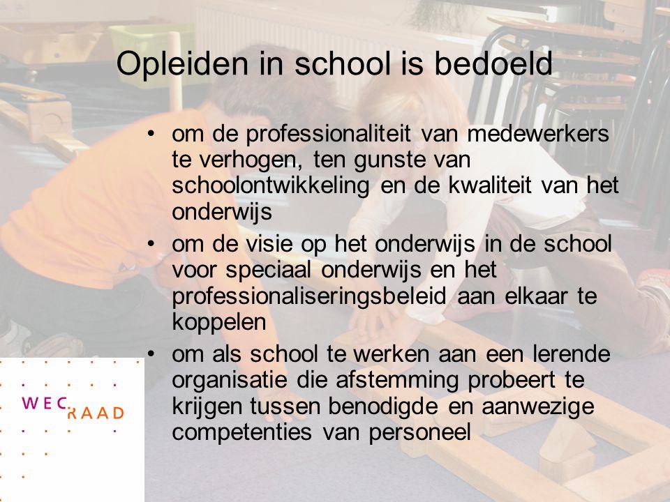 Opleiden in school is bedoeld om de professionaliteit van medewerkers te verhogen, ten gunste van schoolontwikkeling en de kwaliteit van het onderwijs