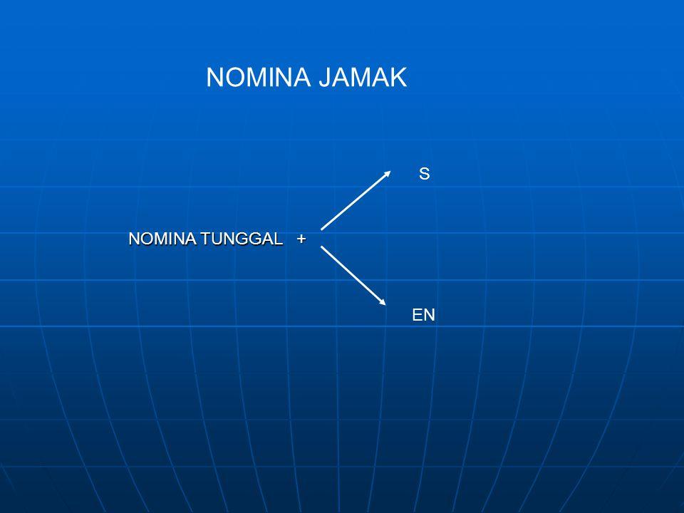 NOMINA JAMAK NOMINA TUNGGAL + S EN