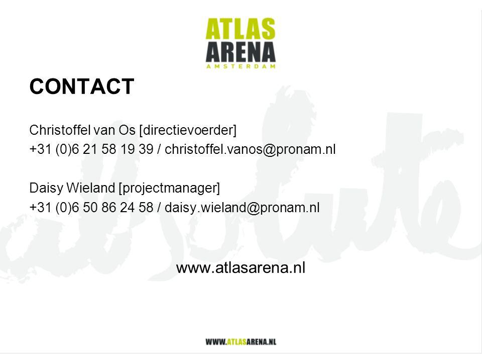CONTACT Christoffel van Os [directievoerder] +31 (0)6 21 58 19 39 / christoffel.vanos@pronam.nl Daisy Wieland [projectmanager] +31 (0)6 50 86 24 58 /