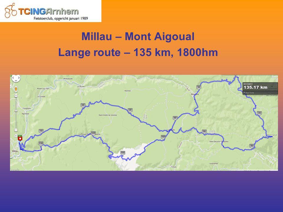Millau – Mont Aigoual Lange route – 135 km, 1800hm