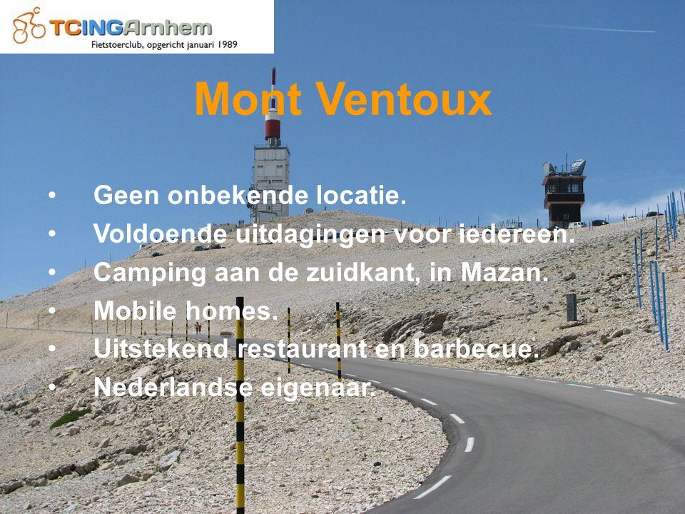 Mont Ventoux Geen onbekende locatie. Voldoende uitdagingen voor iedereen.
