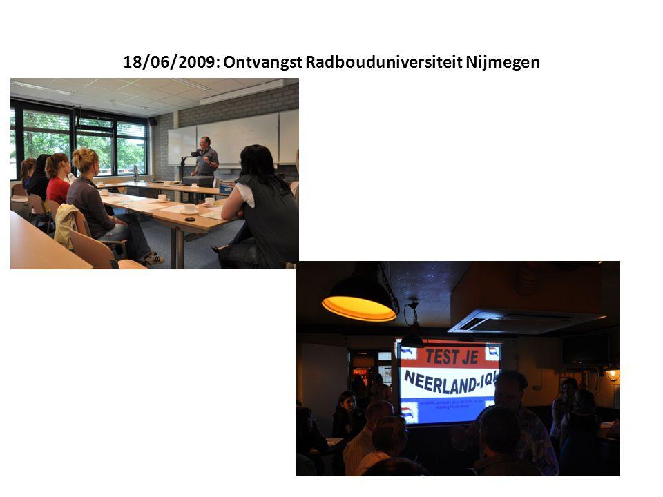 18/06/2009: Ontvangst Radbouduniversiteit Nijmegen