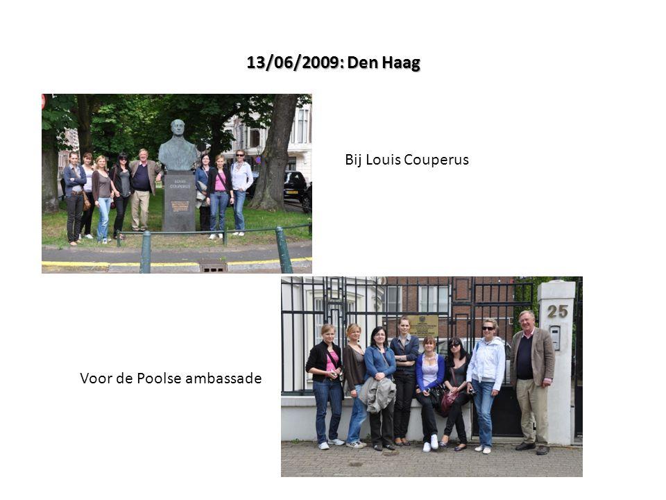 13/06/2009: Den Haag Bij Louis Couperus Voor de Poolse ambassade