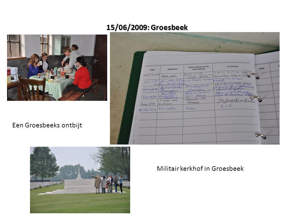 15/06/2009: Groesbeek Een Groesbeeks ontbijt Militair kerkhof in Groesbeek