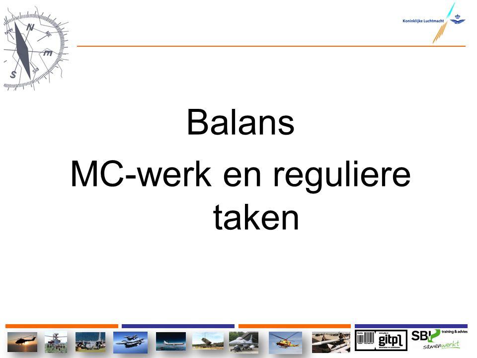 Balans MC-werk en reguliere taken