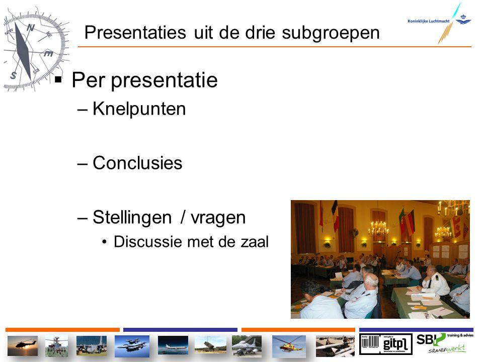 Uitslag van de TOP 5 stellingen 1.Communicatie m.b.t.