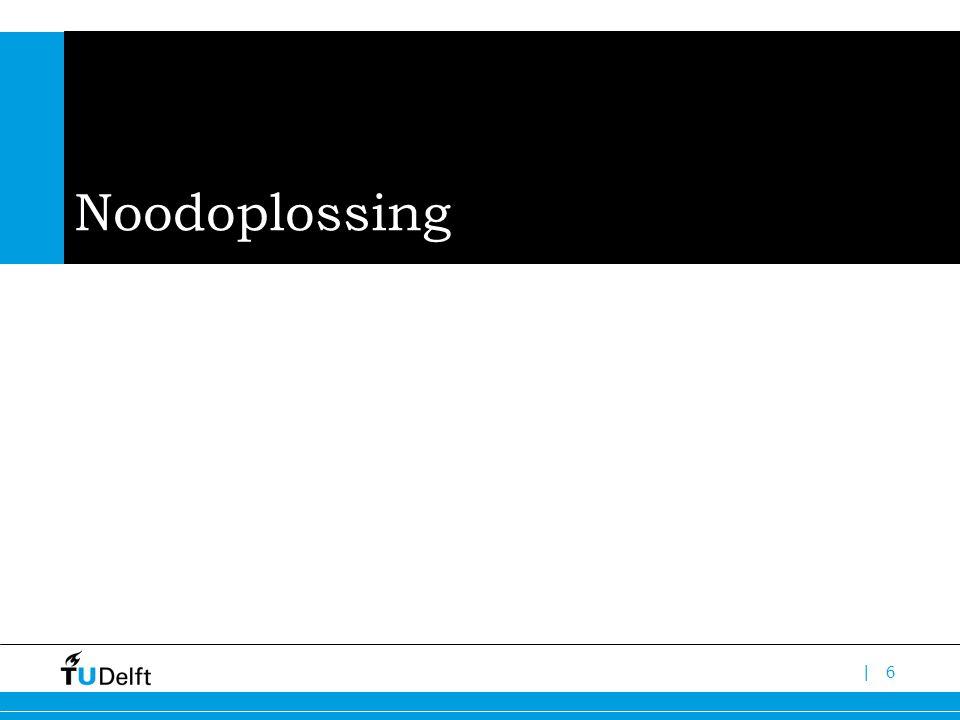 |6 Noodoplossing