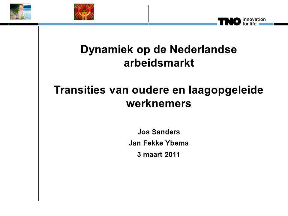 Dynamiek op de Nederlandse arbeidsmarkt Transities van oudere en laagopgeleide werknemers Jos Sanders Jan Fekke Ybema 3 maart 2011