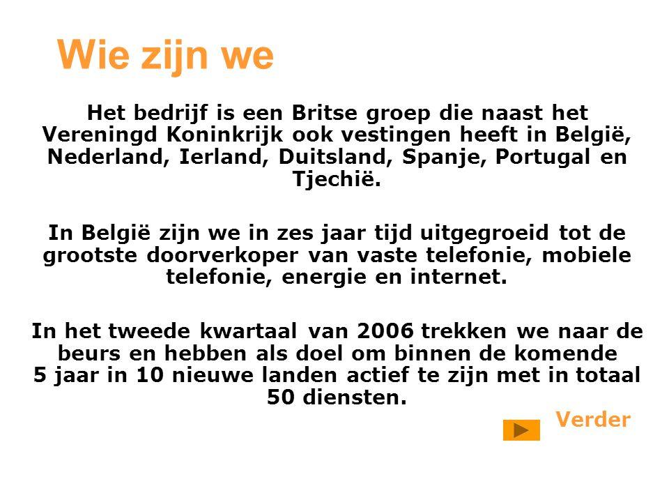 Wie zijn we Het bedrijf is een Britse groep die naast het Vereningd Koninkrijk ook vestingen heeft in België, Nederland, Ierland, Duitsland, Spanje, Portugal en Tjechië.