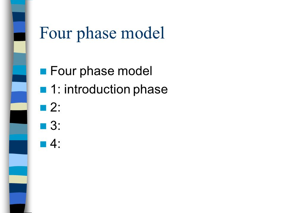 Four phase model 1: introduction phase 2: 3: 4: