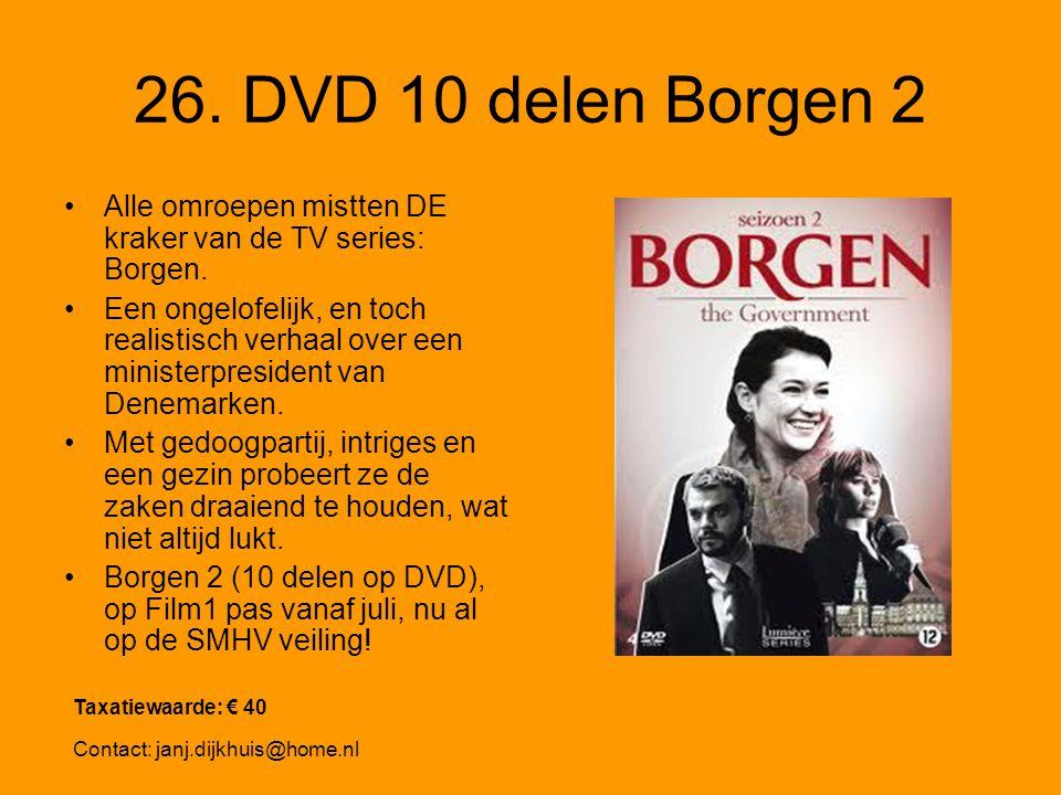 26. DVD 10 delen Borgen 2 Alle omroepen mistten DE kraker van de TV series: Borgen.