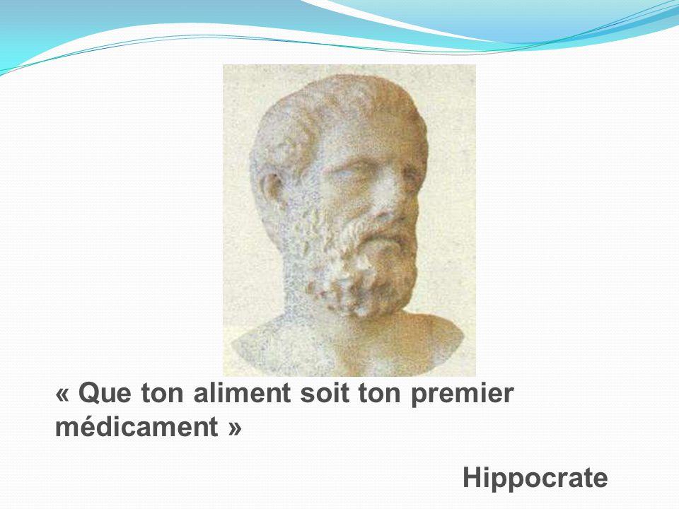 « Que ton aliment soit ton premier médicament » Hippocrate