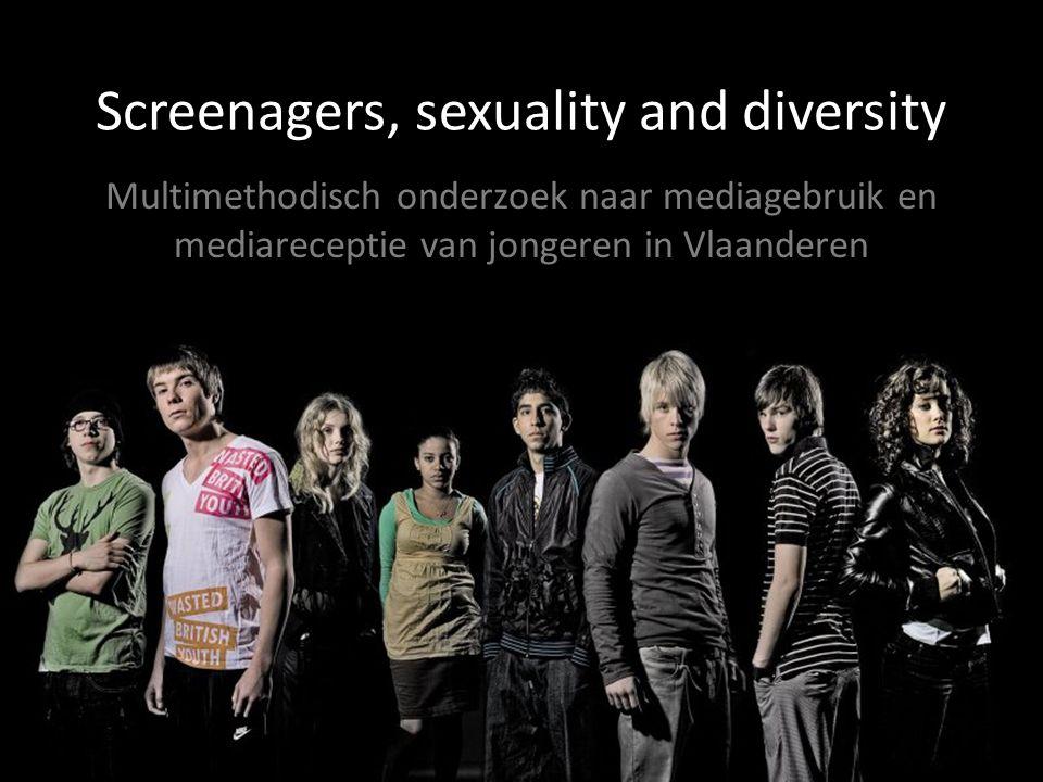 Screenagers, sexuality and diversity Multimethodisch onderzoek naar mediagebruik en mediareceptie van jongeren in Vlaanderen
