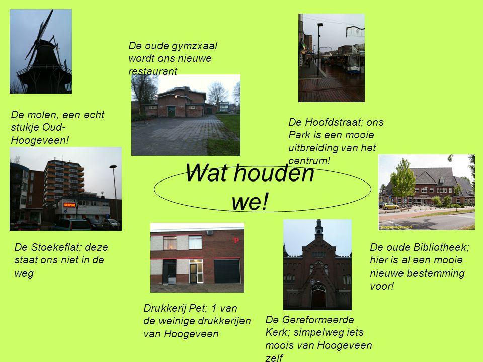 Wat houden we. De molen, een echt stukje Oud- Hoogeveen.