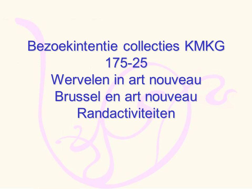 Bezoekintentie collecties KMKG 175-25 Wervelen in art nouveau Brussel en art nouveau Randactiviteiten