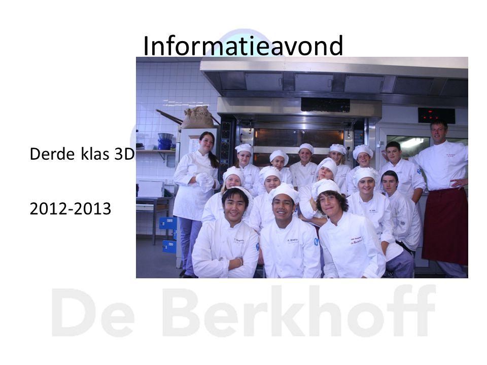 Informatieavond Derde klas 3D 2012-2013