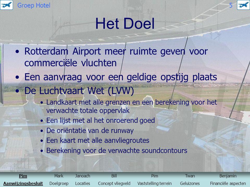 Het Doel Rotterdam Airport meer ruimte geven voor commerciële vluchten Een aanvraag voor een geldige opstijg plaats De Luchtvaart Wet (LVW) Landkaart