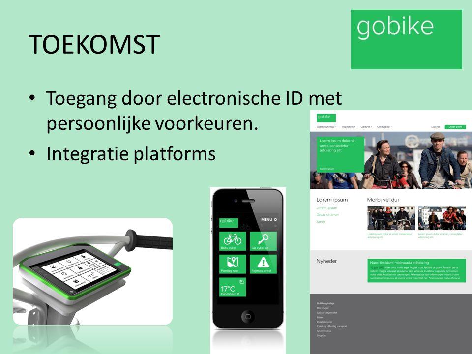 TOEKOMST Toegang door electronische ID met persoonlijke voorkeuren. Integratie platforms