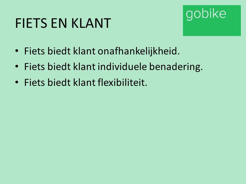 GOBIKE CONCEPT SERVICE VERLENING.INTEGRALE BENADERING BEHOEFTE KLANT.