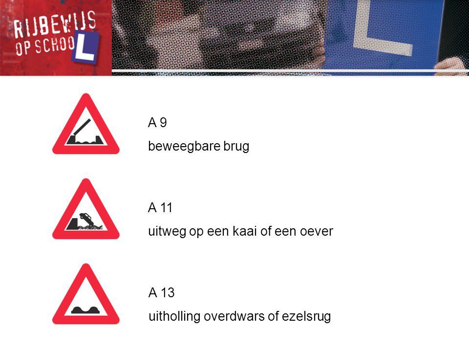 F 13 verkeersbord dat pijlen op de rijbaan aankondigt en de keuze van een rijstrook voorschrijft F 14 opstelvak voor fietsers en bestuurders van tweewielige bromfietsen F 15 verkeersbord dat de keuze van een richting voorschrijft