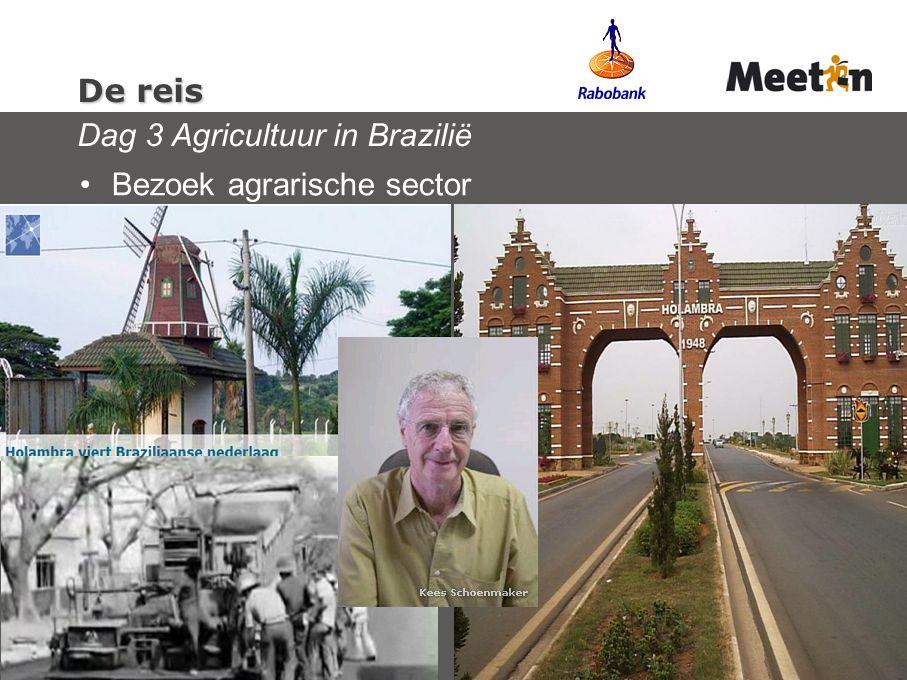 De reis De reis Dag 3 Agricultuur in Brazilië Bezoek agrarische sector