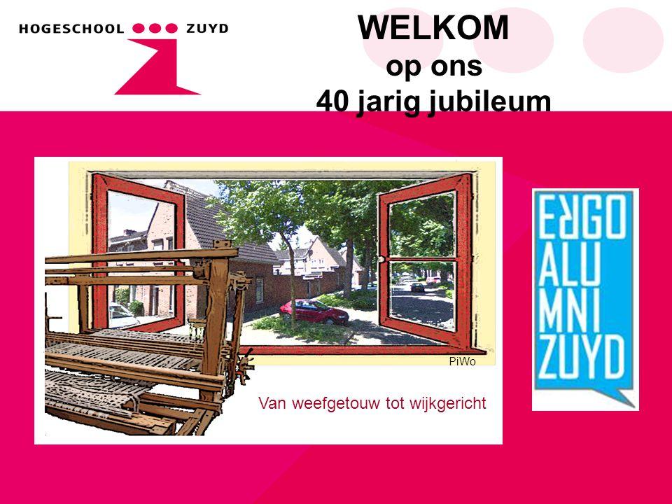 WELKOM op ons 40 jarig jubileum Van weefgetouw tot wijkgericht PiWo