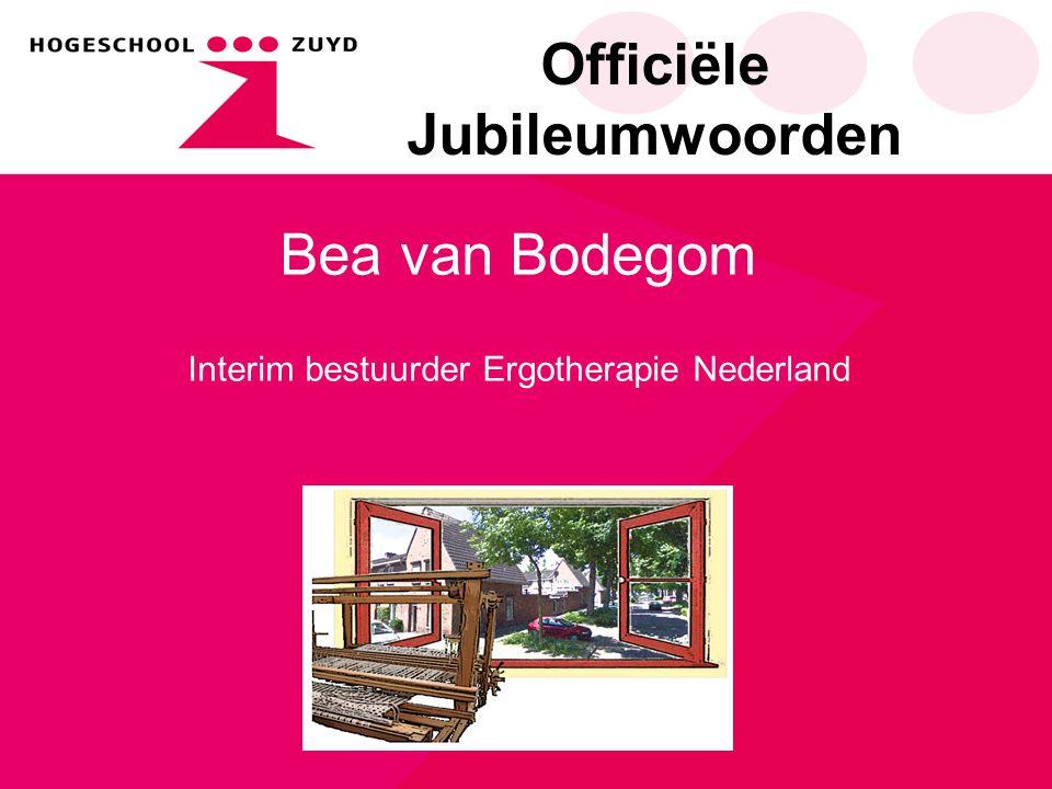 Officiële Jubileumwoorden Frits Benjamins Directeur faculteit gezondheid en zorg opleiding ergotherapie