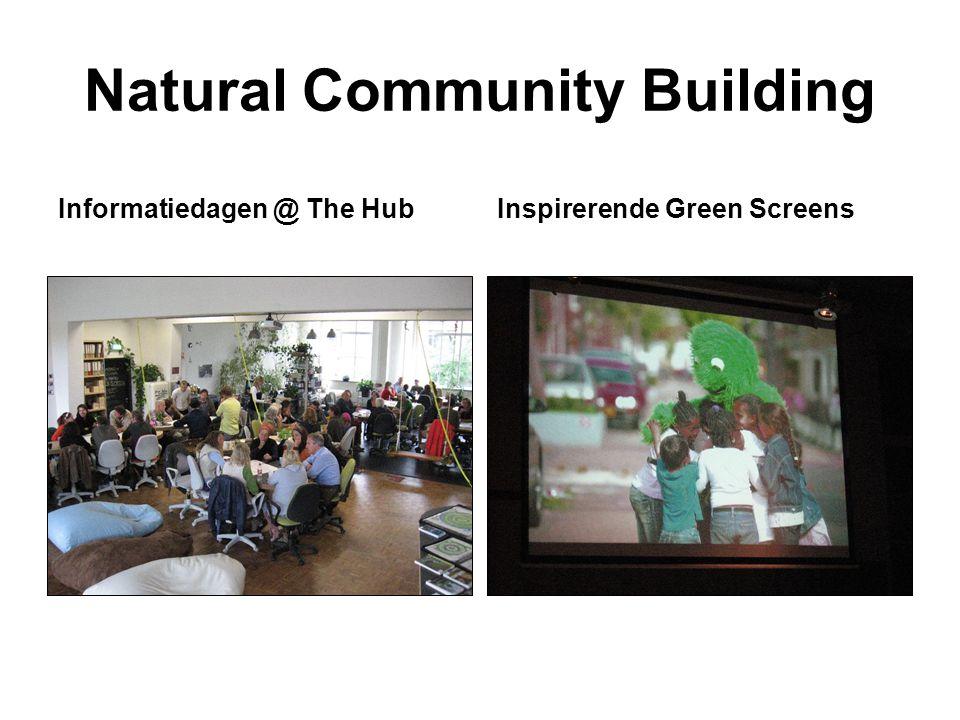 Natural Community Building Informatiedagen @ The HubInspirerende Green Screens