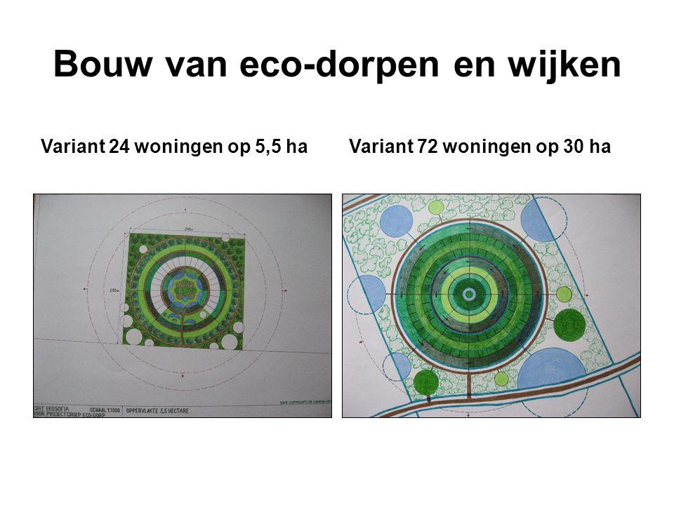 Bouw van eco-dorpen en wijken Variant 24 woningen op 5,5 haVariant 72 woningen op 30 ha