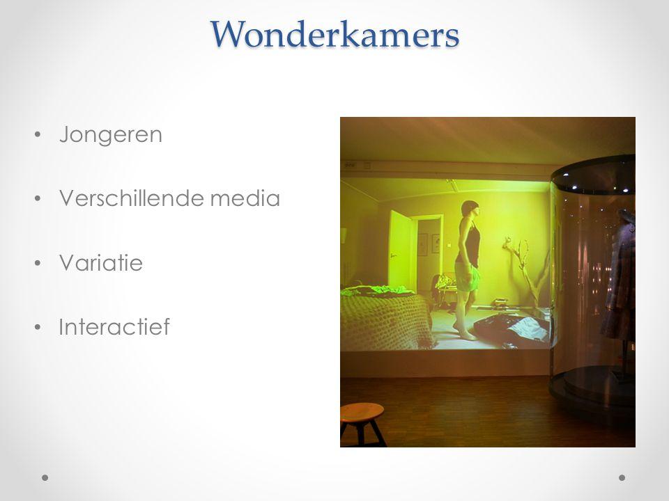 Wonderkamers Jongeren Verschillende media Variatie Interactief