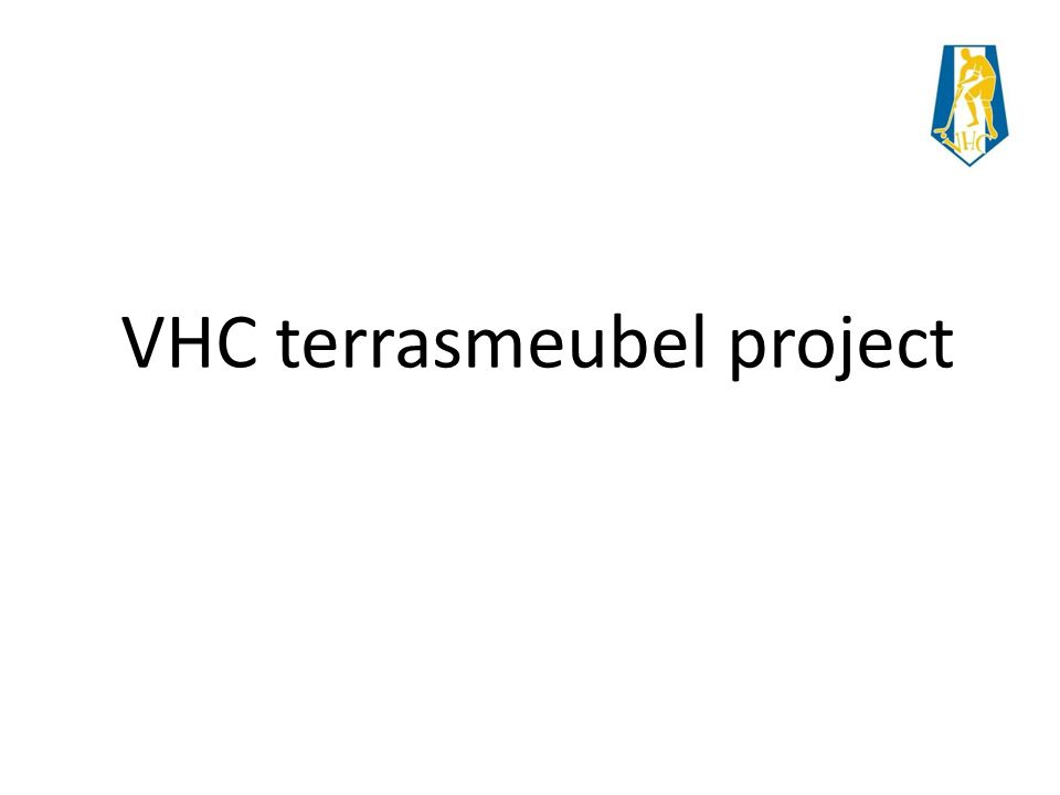 VHC terrasmeubel project