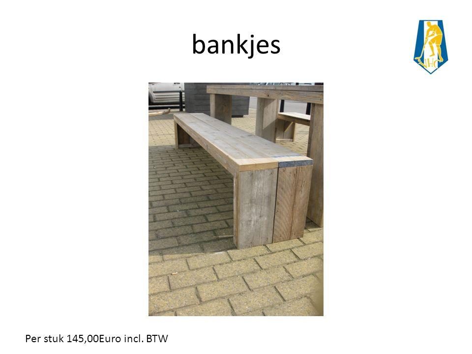 bankjes Per stuk 145,00Euro incl. BTW