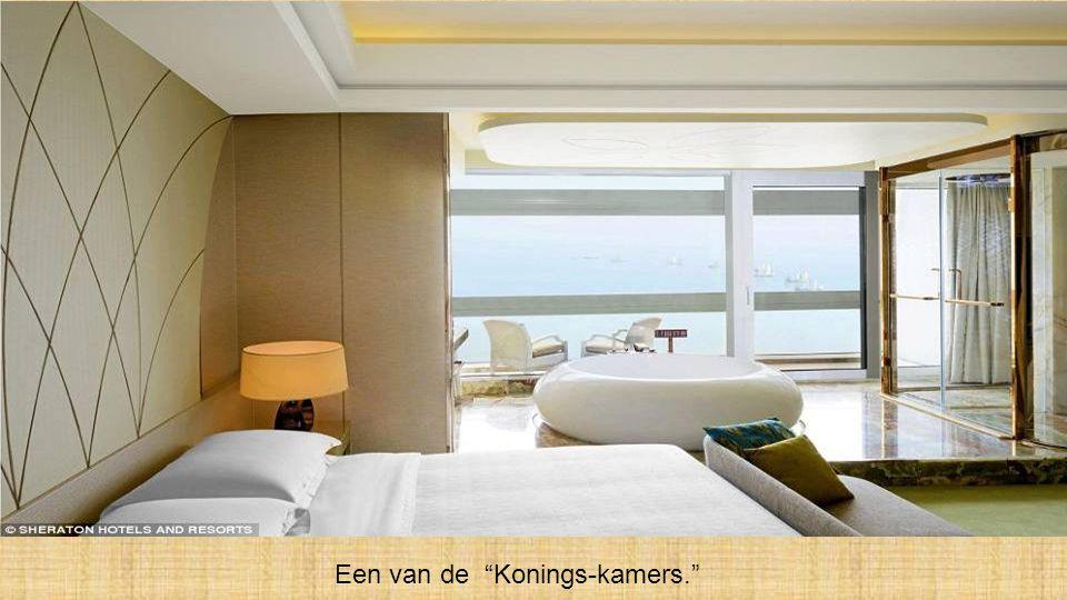 'n Twee-dubbel-bed-kamer, in het aanbod van het Sheraton hotel.