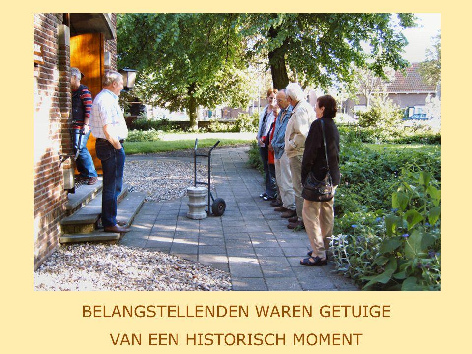 26 MEI 2004 DE LAATSTE FASE: PLAATSING IN DE KERK