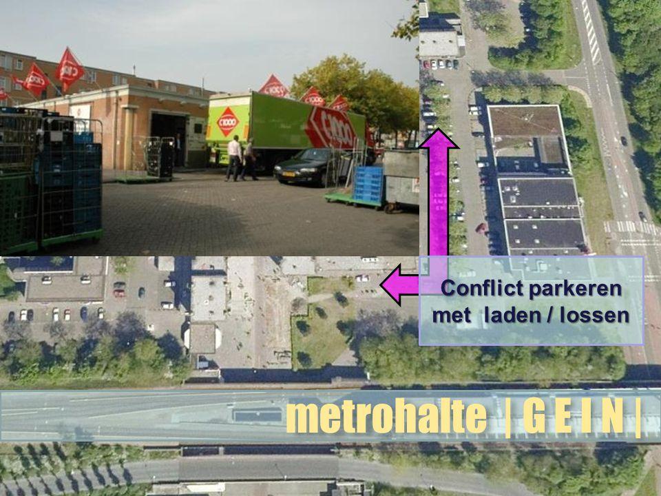 metrohalte | G E I N | Conflict parkeren met laden / lossen