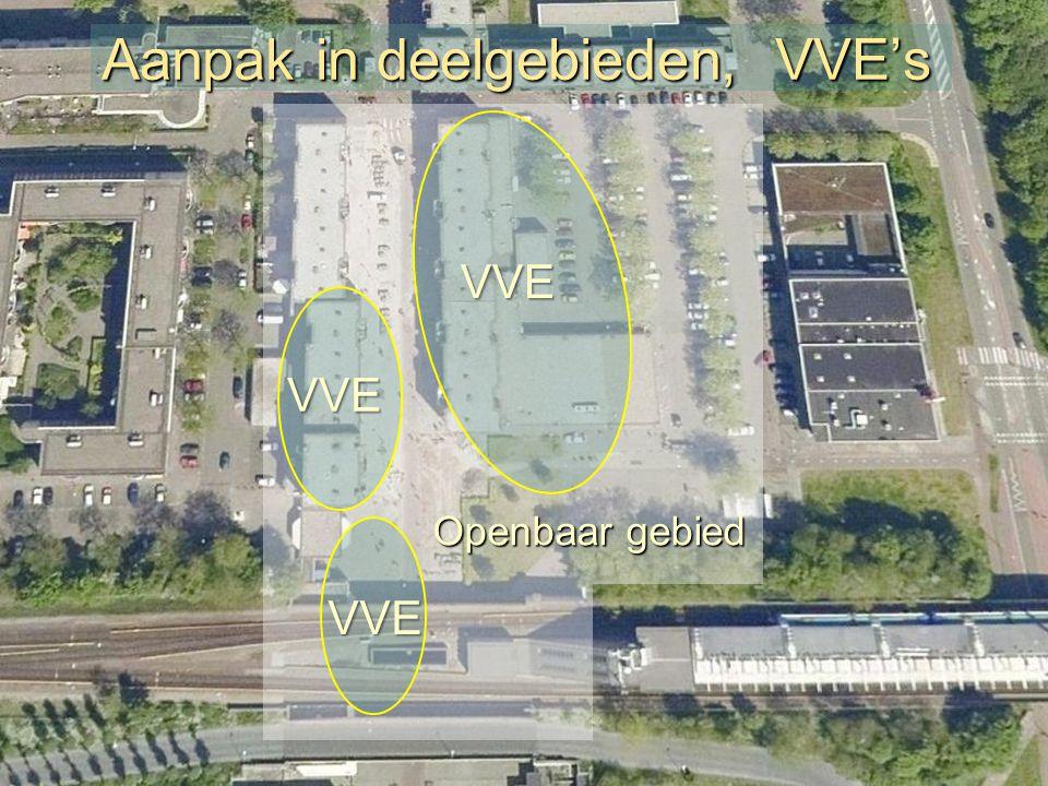 Aanpak in deelgebieden, VVE's VVE VVE VVE Openbaar gebied