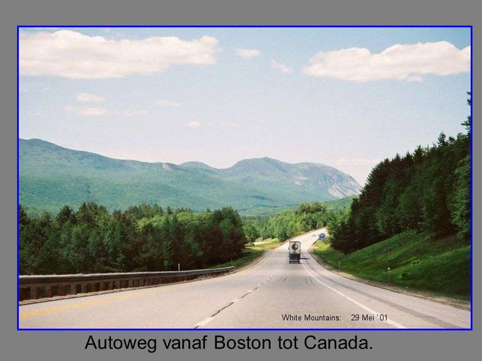 Autoweg vanaf Boston tot Canada.