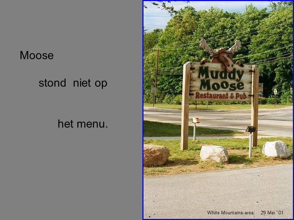 Moose stond niet op het menu.