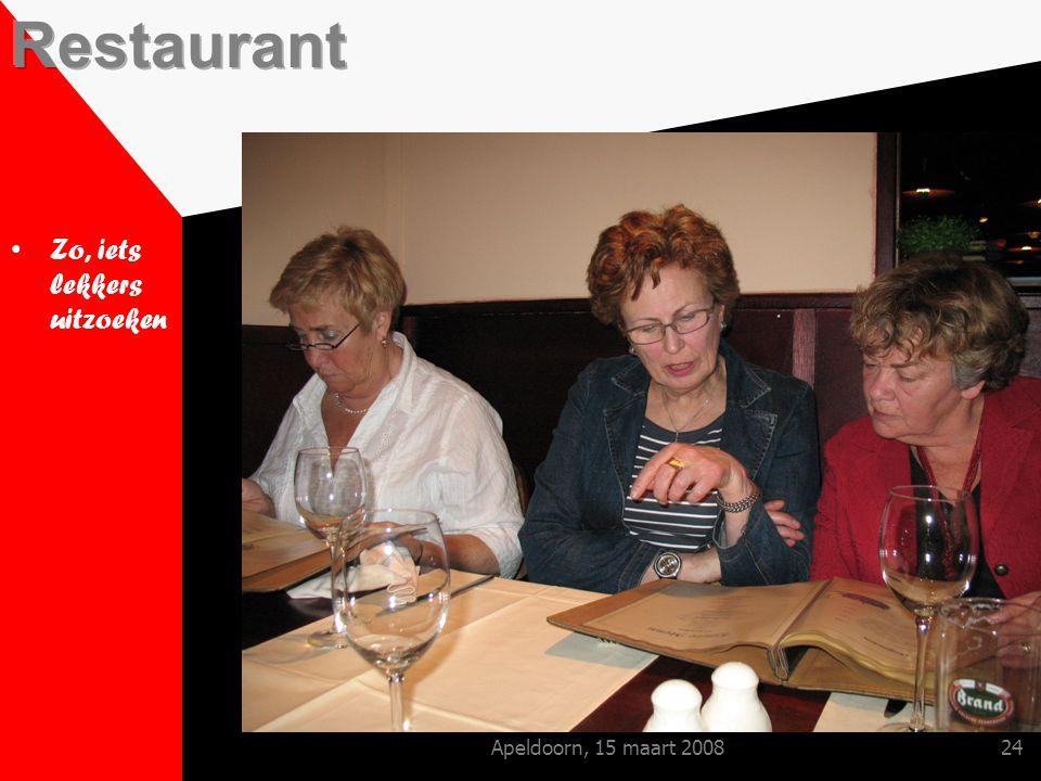 Apeldoorn, 15 maart 200824 Zo, iets lekkers uitzoeken