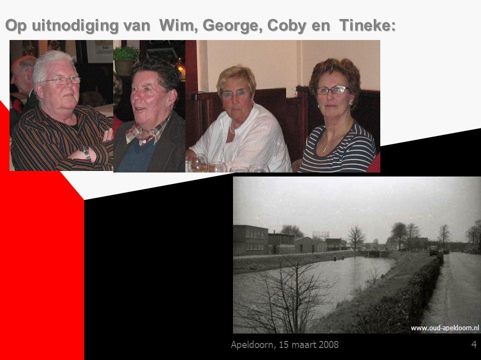 Apeldoorn, 15 maart 200815 George lust er wel pap van ……