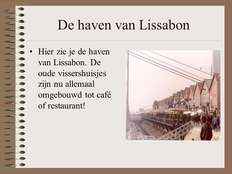 De haven van Lissabon Hier zie je de haven van Lissabon.