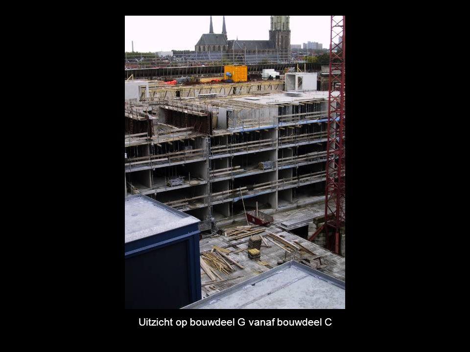 Uitzicht op bouwdeel G vanaf bouwdeel C